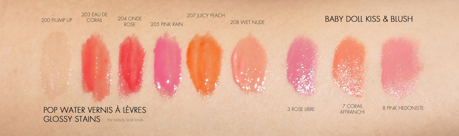 Yves Saint Laurent Pop Water Collection New Glossy Stains