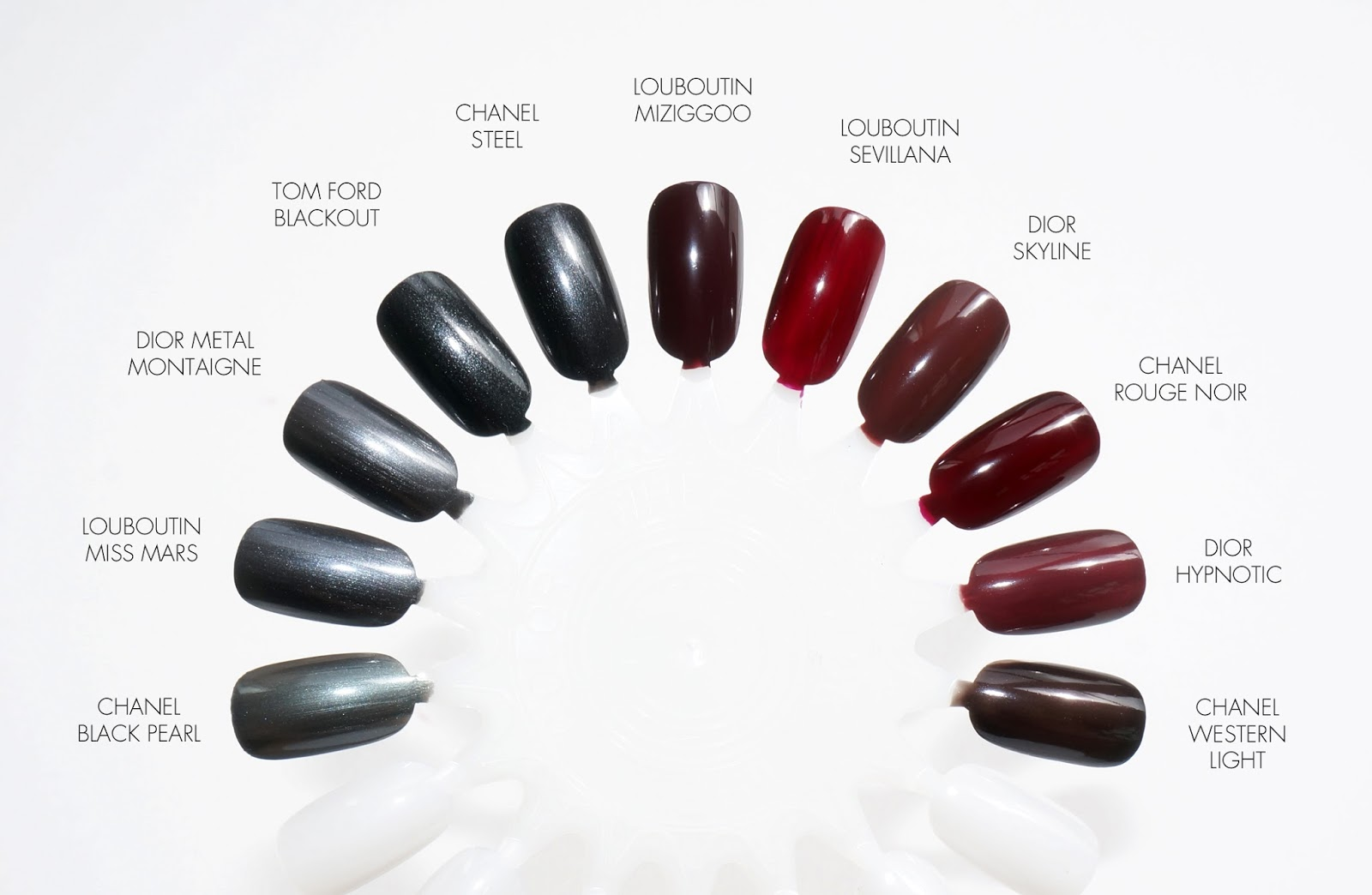 Christian Louboutin The Noirs Nail Colors for Fall 2016 - Miziggoo ...