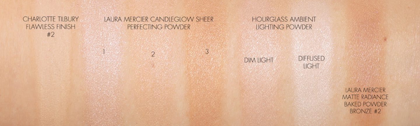Laura Mercier Candleglow Sheer Perfecting Powder vs Hourglass Ambient Lighting Powders - The Beauty Look Book