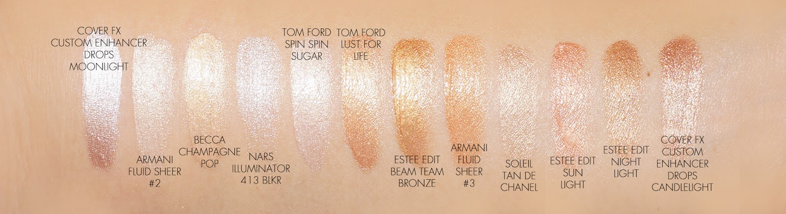 The Beauty Look Book - Tom Ford Shimmer Shot comparisons