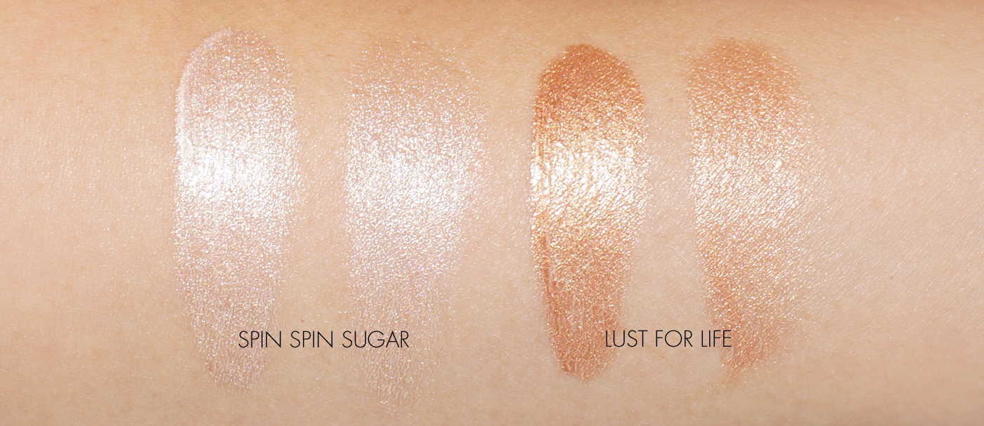 The Beauty Look Book - Tom Ford Shimmer Shots swatched