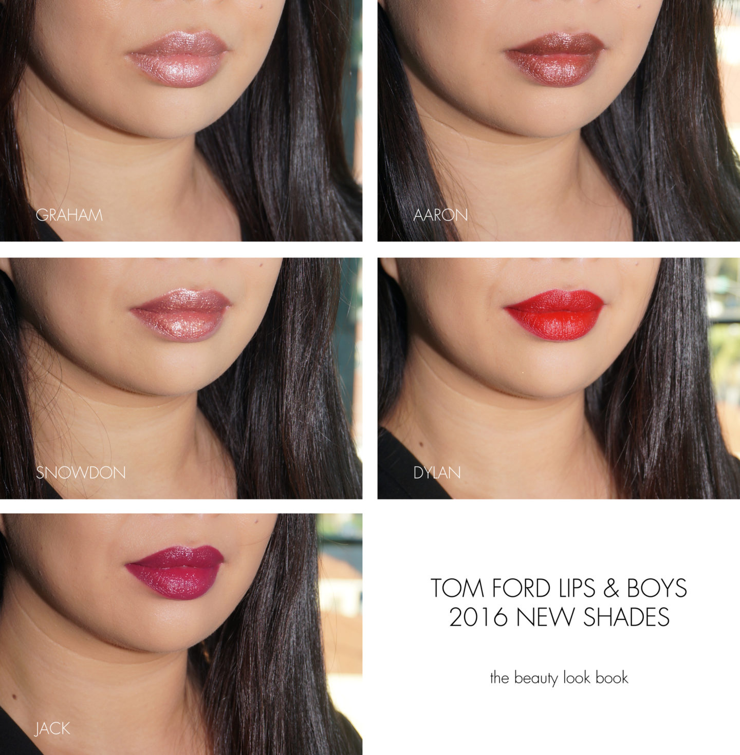 Tom Ford Lips and Boys Graham, Aaron, Snowdon, Dylan and Jack