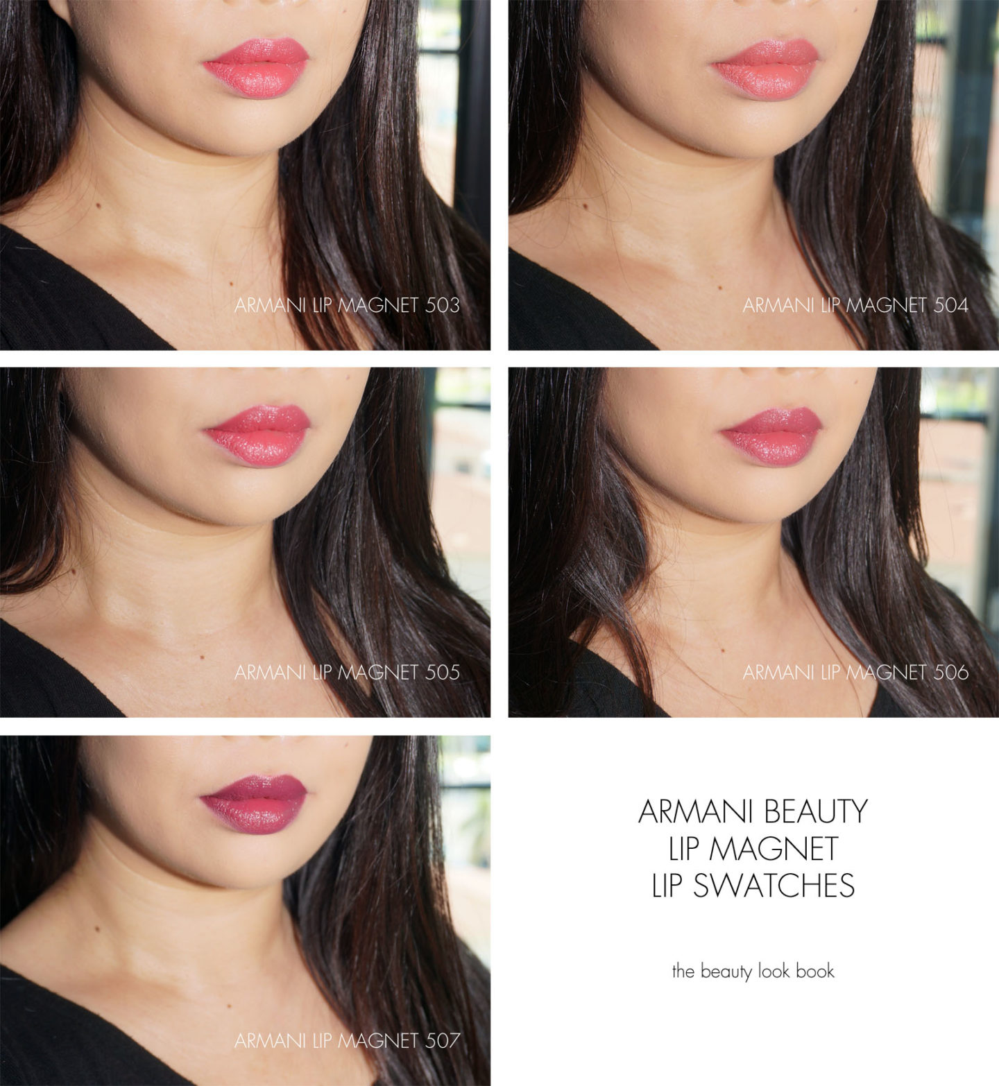 Armani Lip Magnet Swatches