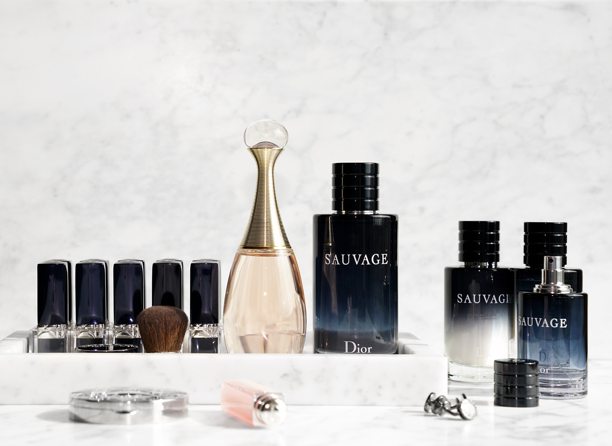 his and hers fragrance with dior sauvage and j 39 adore eau. Black Bedroom Furniture Sets. Home Design Ideas