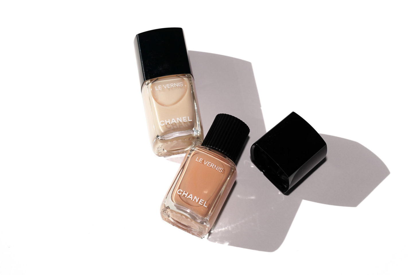 Chanel Le Vernis Blanc White and Beige Beige Spring 2017
