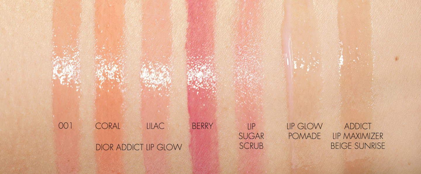Dior Addict Lip Glow Swatches