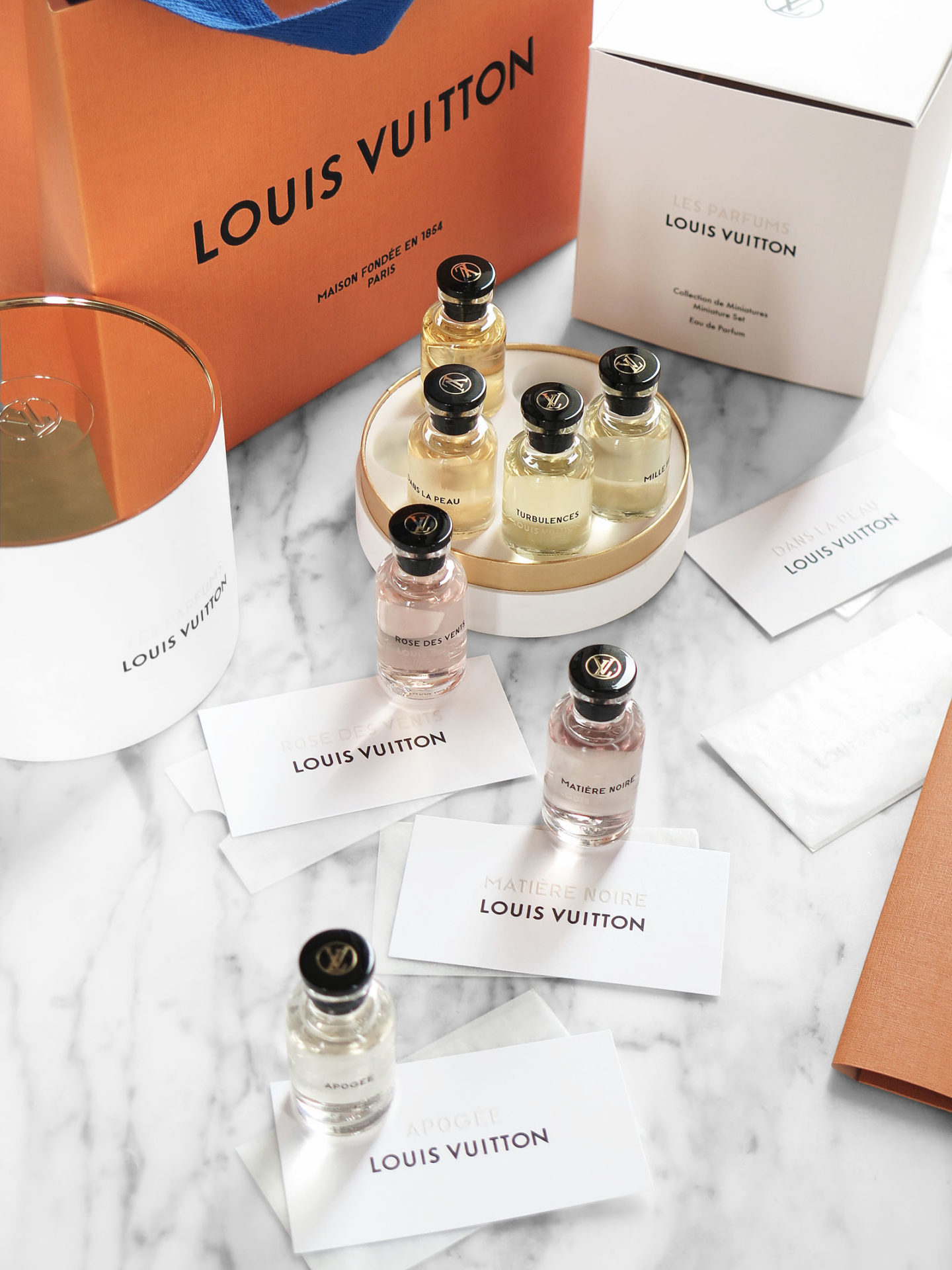 Louis Vuitton Perfumes Review Miniature Set via The Beauty Look Book