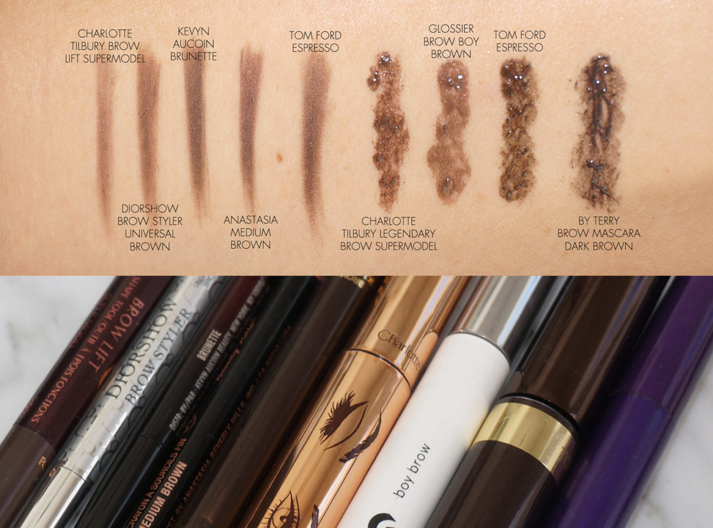Brow Pencil and Brow Gel comparisons | The Beauty Look Book