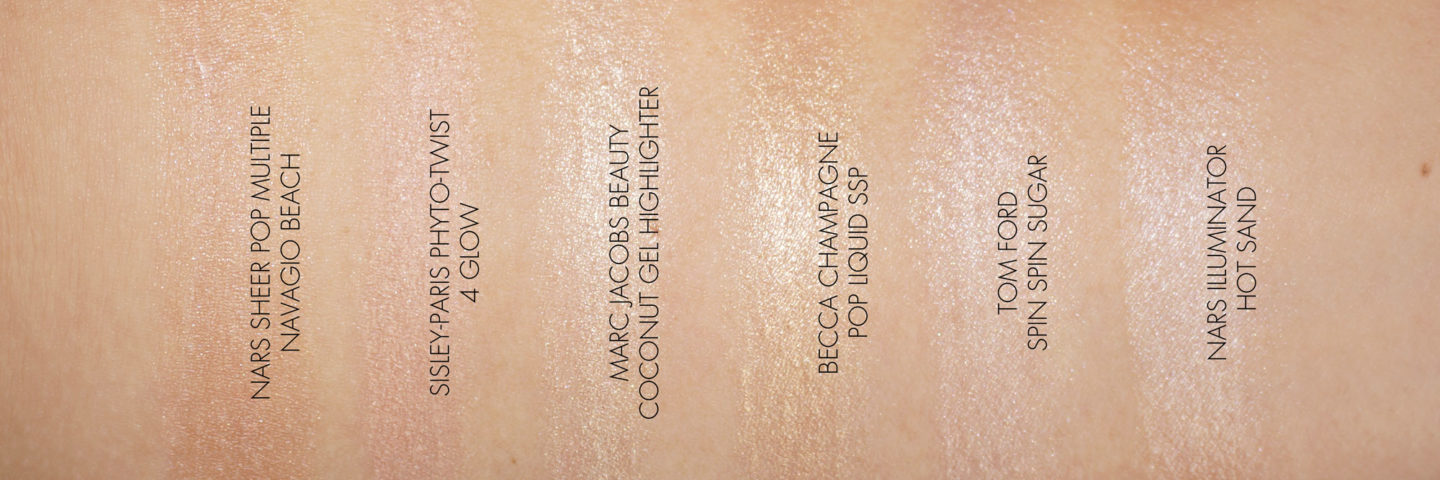 Champagne Colored Highlighers NARS, Tom Ford, Marc Jacobs, Becca, Sisley   The Beauty Look Book