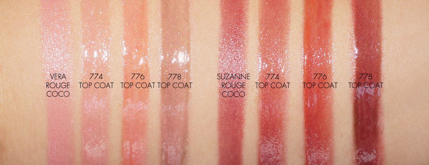 Chanel Rouge Coco Top Coat Swatches   The Beauty Look Book
