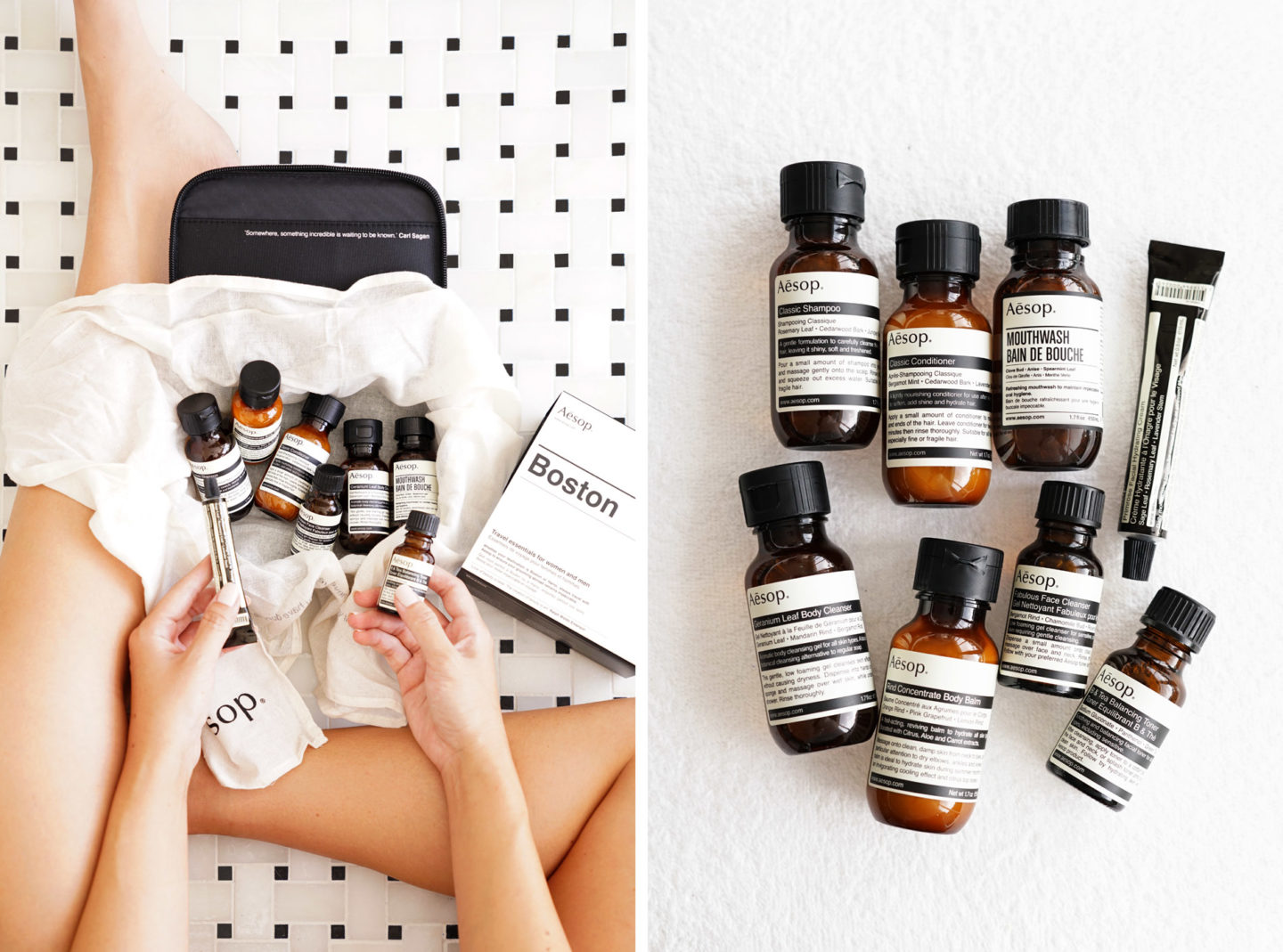 Aesop Boston Travel Skincare Set | The Beauty Look Book