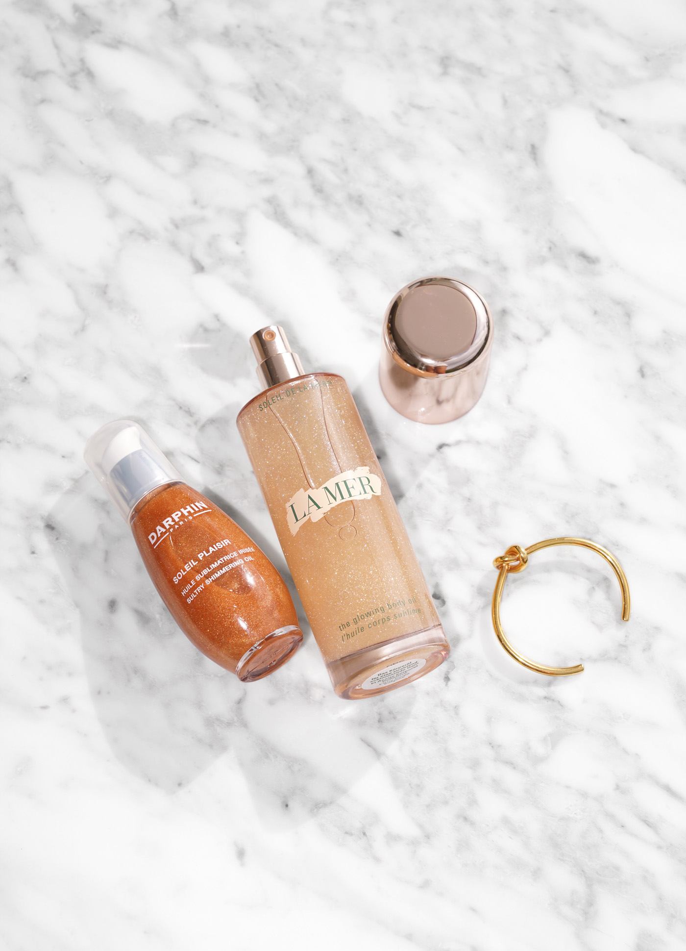 Darphin Soleil Plaisir and La Mer Glowing Body Oil   The Beauty Look Book