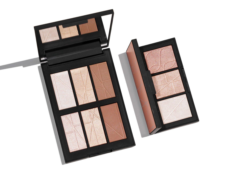 NARS Bord de Plage vs Banc de Sable Highlighting Palettes   The Beauty Look Book