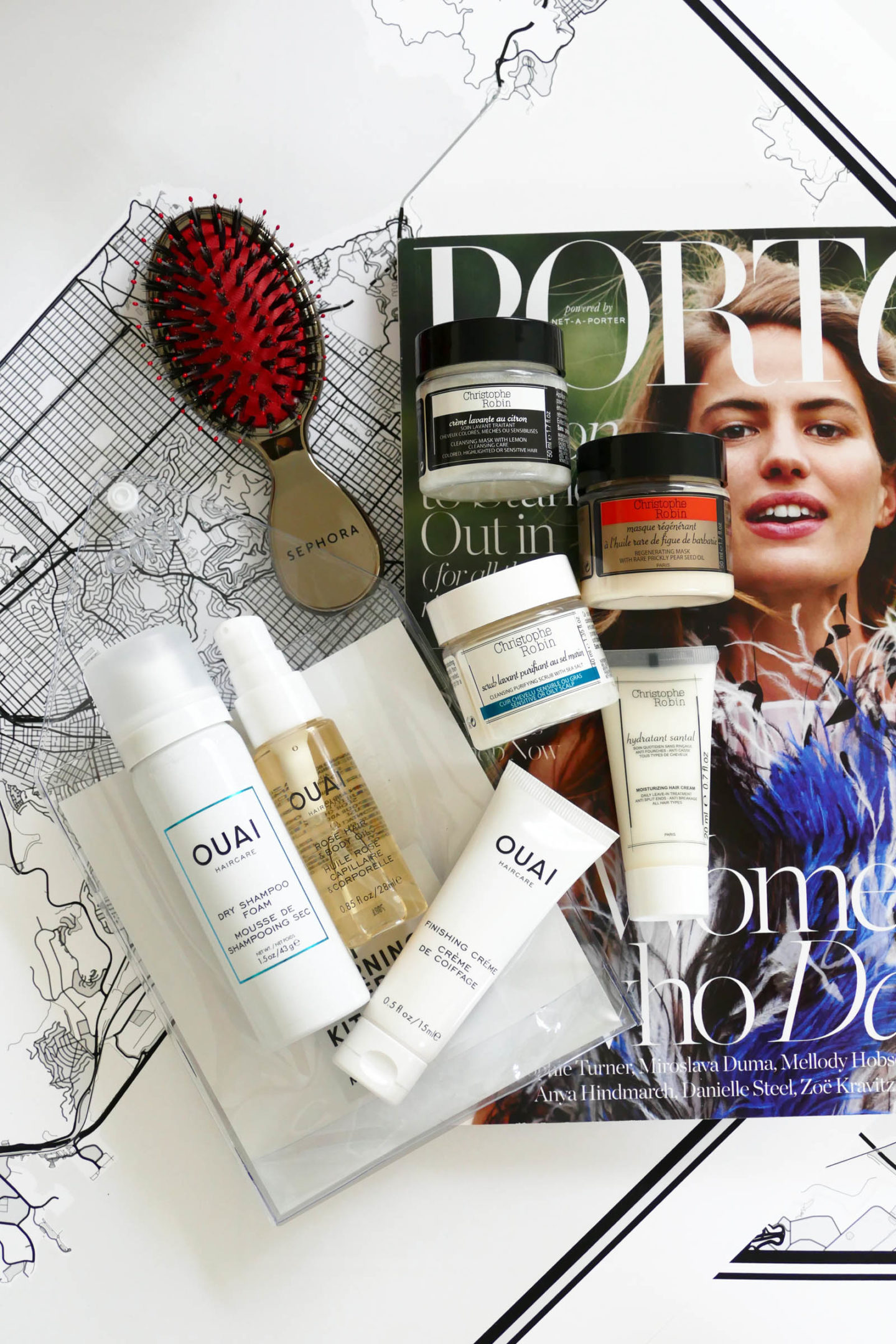 Ouai Morning After Set and Christophe Robin Minis Net-A-Porter   The Beauty Look Book