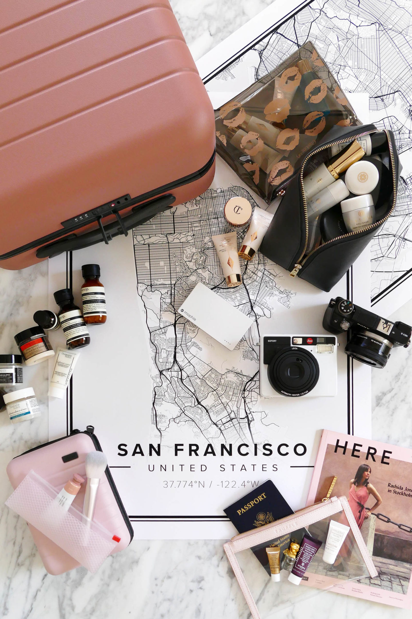 Travel Beauty Away Luggage Carry On | The Beauty Look Book