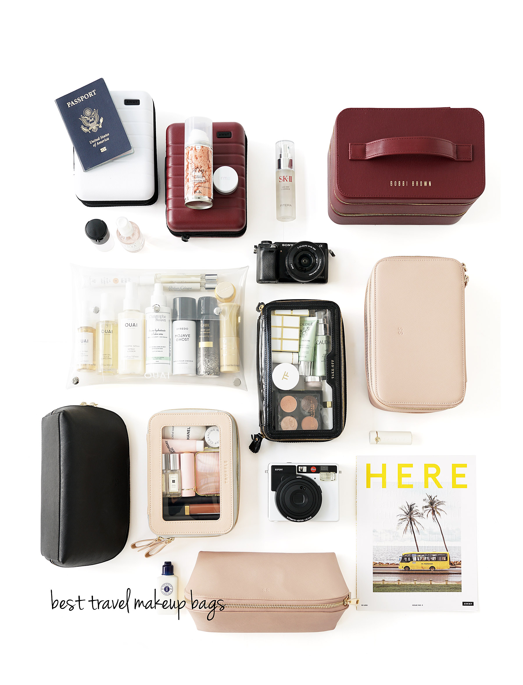 Best Travel Makeup Bags The Beauty Look Book