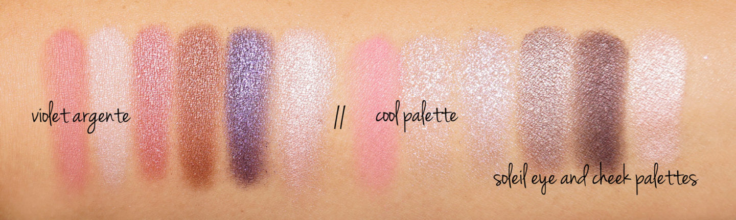 Tom Ford Soleil Eye and Cheek Palette Violet Argente vs Cool Swatches