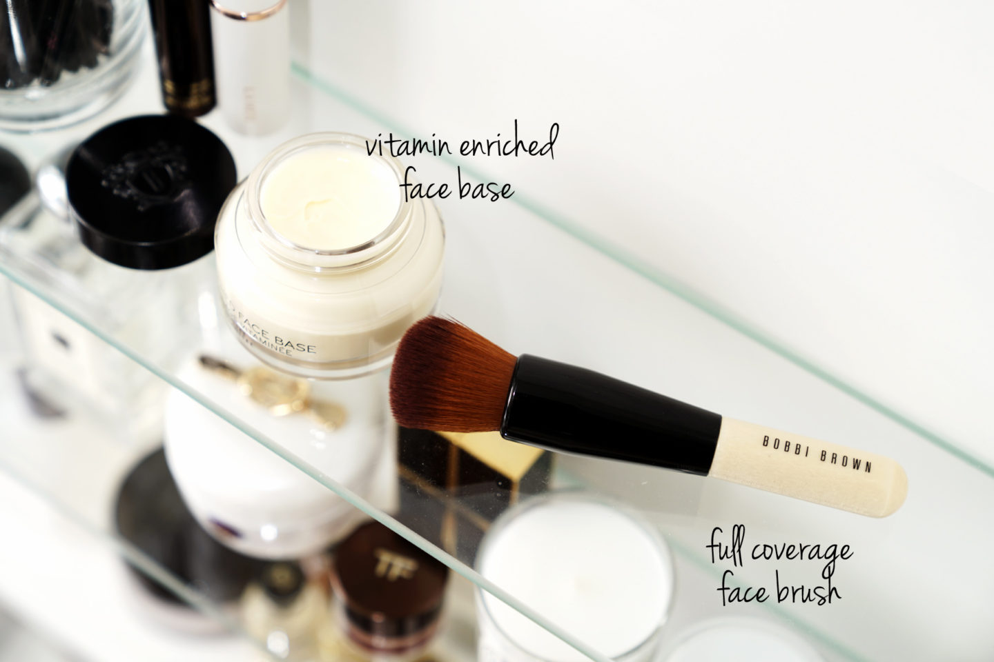 Bobbi Brown Vitamin Enriched Face Base and Full Coverage Face Brush Review via The Beauty Look Book