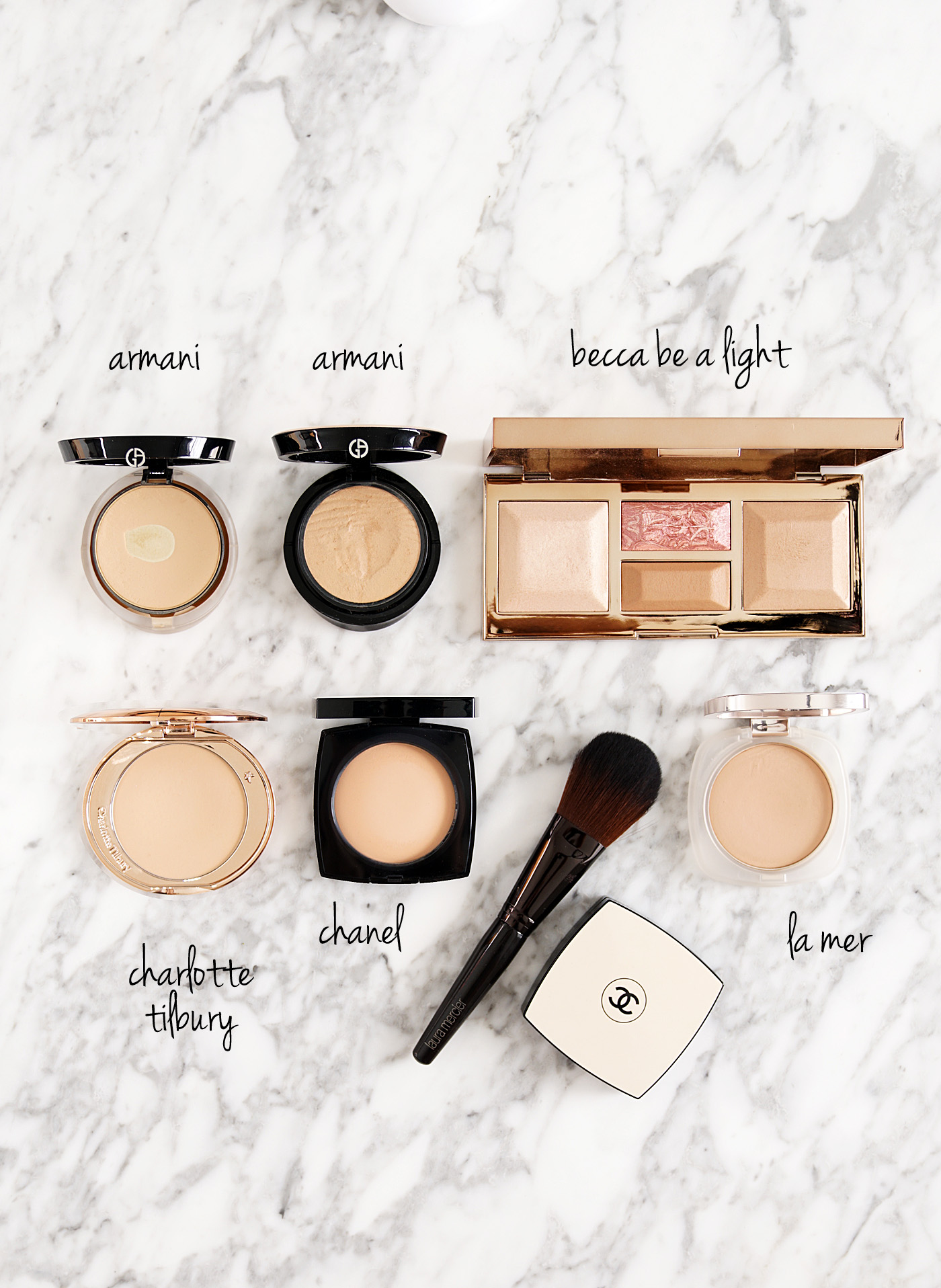 Best Pressed Setting Powders Armani, Becca, Charlotte Tilbury, Chanel Les Beiges and La