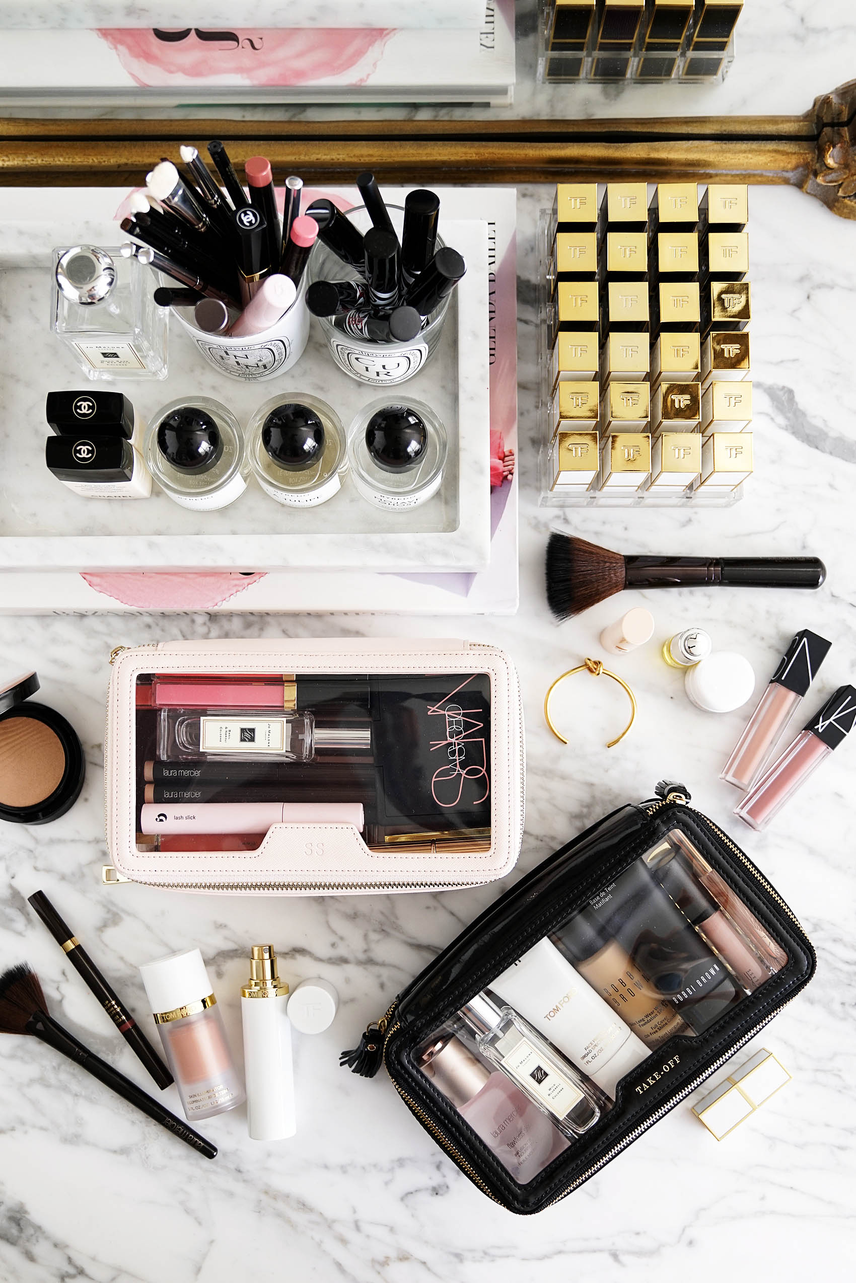 2640f08642 Best Clear Makeup Bags The Daily Edited vs Anya Hindmarch | The Beauty Look  Book