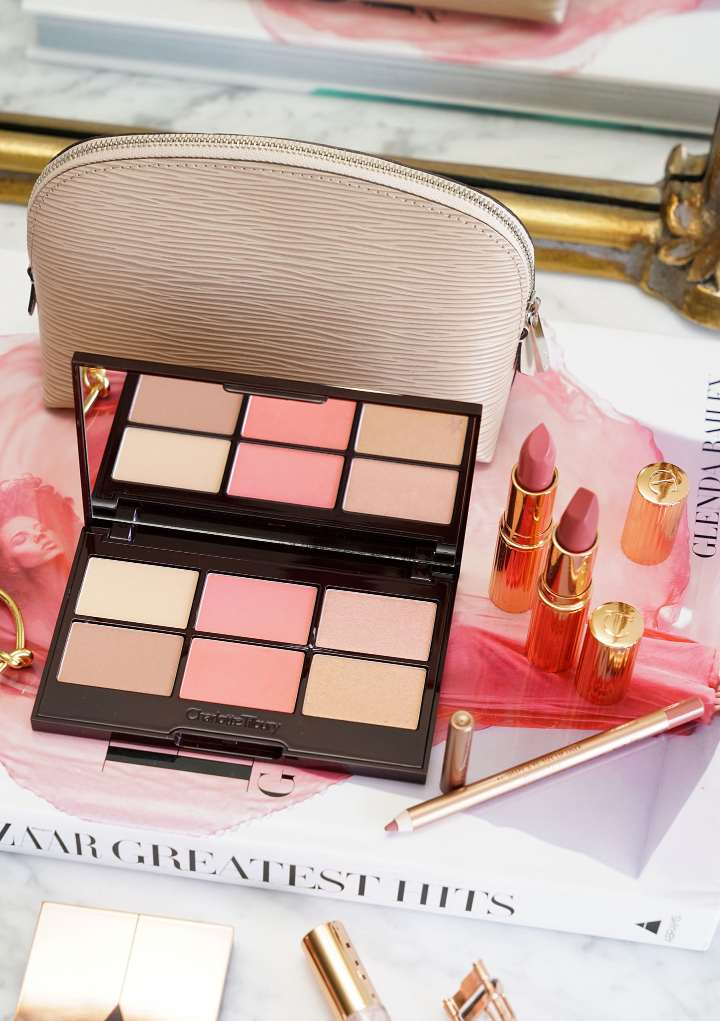 Nordstrom Anniversary Charlotte Tilbury Glowing Pretty Skin Palette and Pretty Pink Lip Set Review
