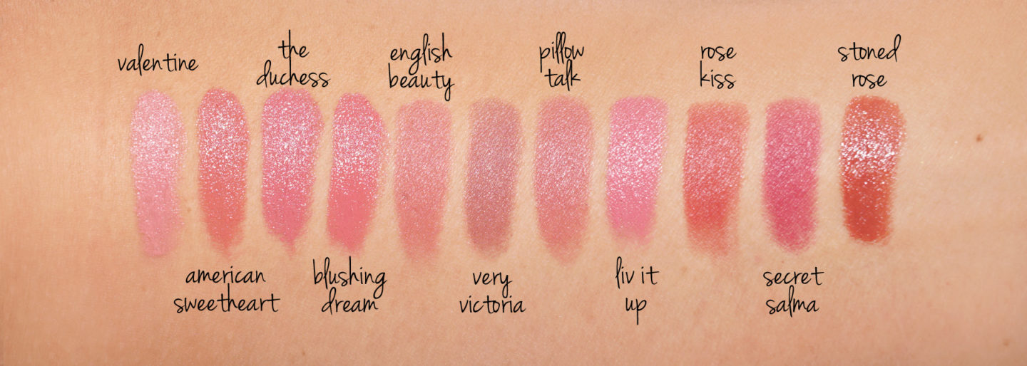 Charlotte Tilbury Lipstick swatches