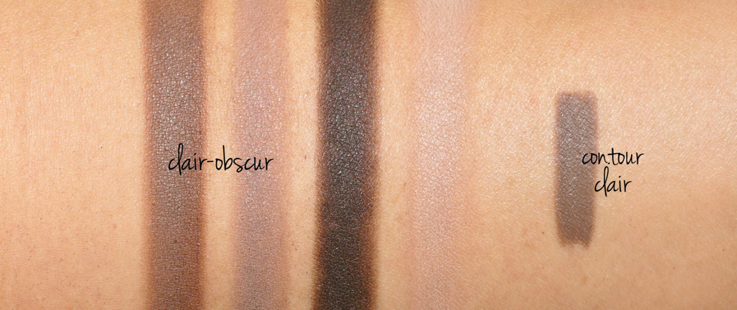 Chanel Les 4 Ombres Clair-Obscur and Stylo Ombre in Contour Clair swatches | The Beauty Look Book