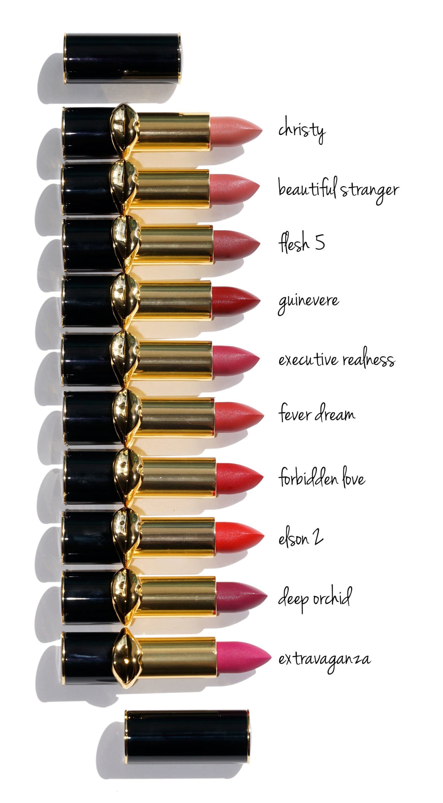 Pat McGrath MatteTrance Lipstick swatches | The Beauty Look Book