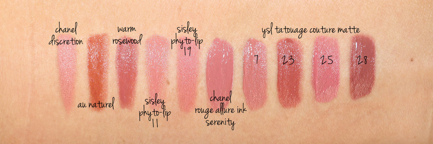 Chanel lip swatch comparions