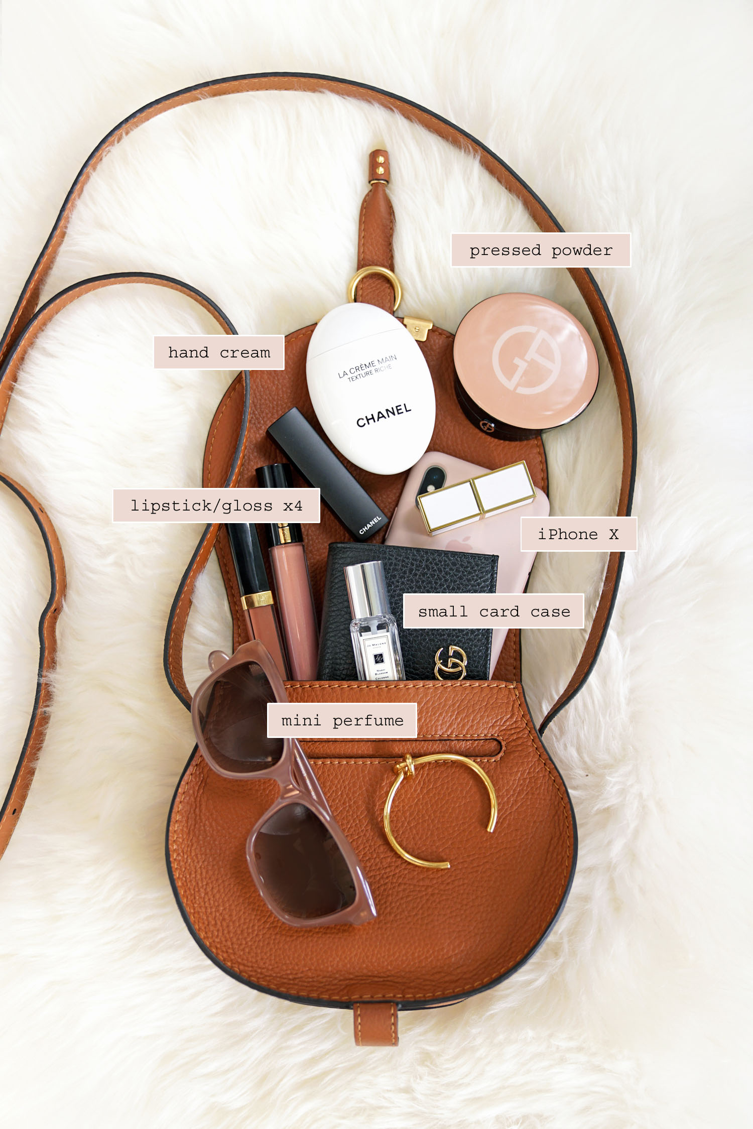 4275b3c362 What's Inside My Bag Chloe Mini Marcie | The Beauty Look Book