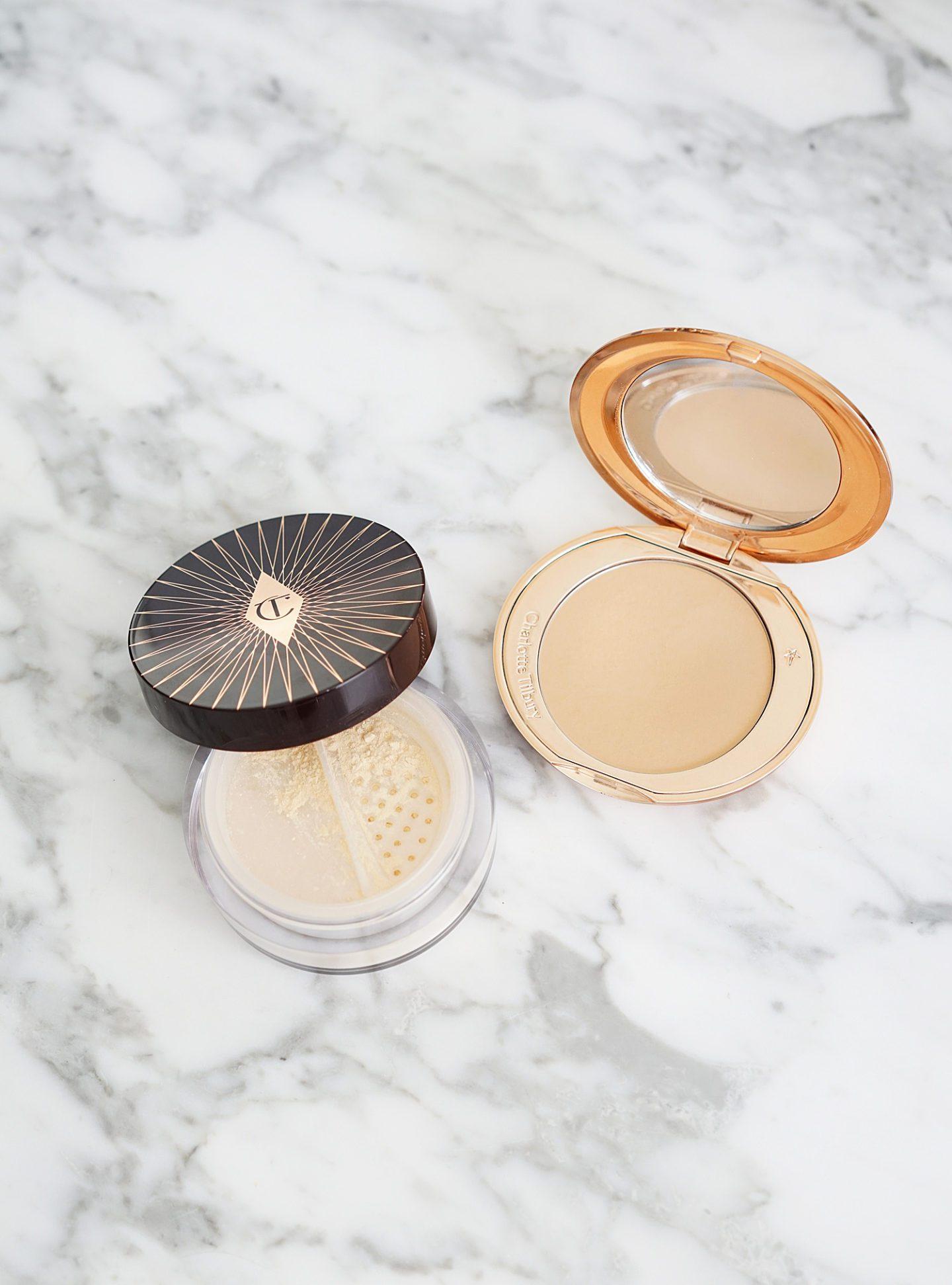 Charlotte Tilbury Magic Powder vs Flawless Pressed Shade 2