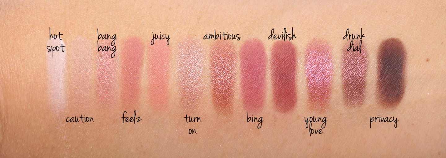 Urban Decay Naked Cherry Eyeshadow Palette swatches | The Beauty Look Book