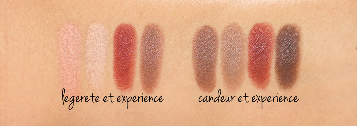 Chanel Les 4 Ombres Legetere Et Experience vs Candeur Et Experience swatches | The Beauty Look Book