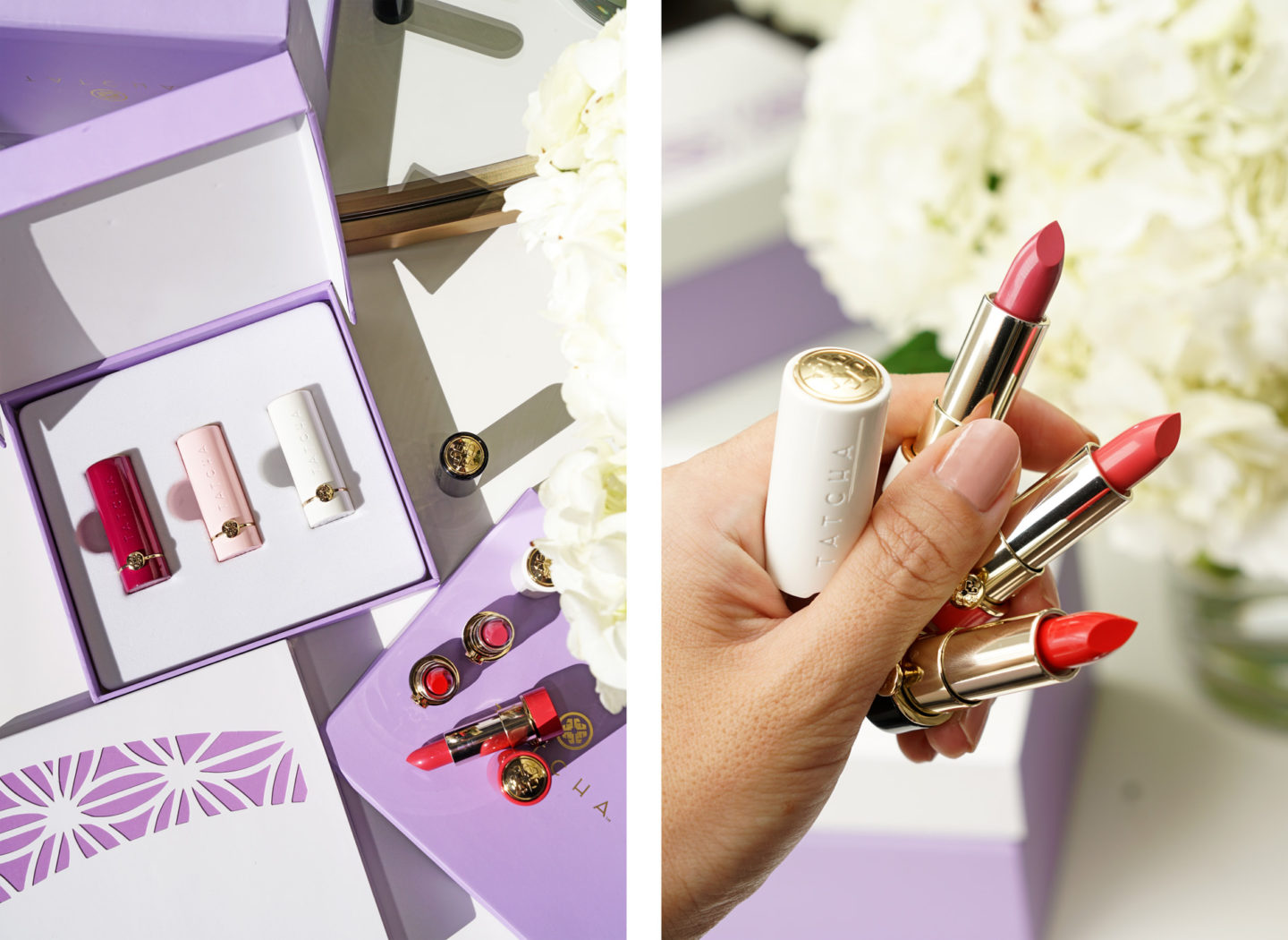 Tatcha Japanese Blossoms and Kyoto Kisses Mini Silk Lipstick Trio review