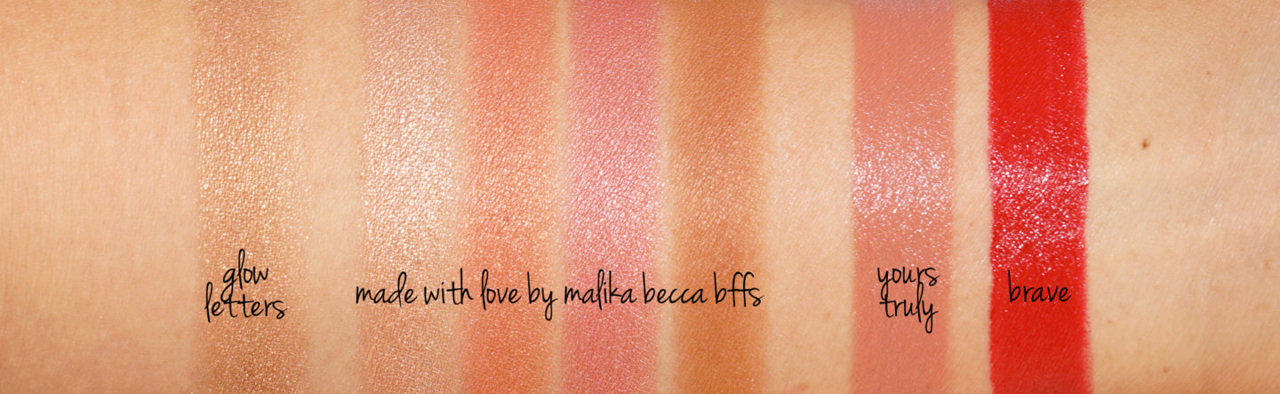 Becca BFF Made with Love by Malika swatches | The Beauty Look Book