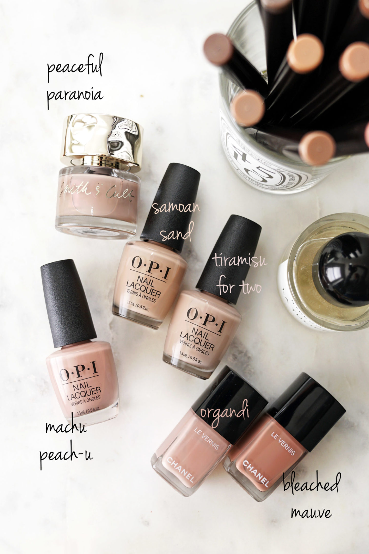 Top Five Neutral Nail Polishes for Spring
