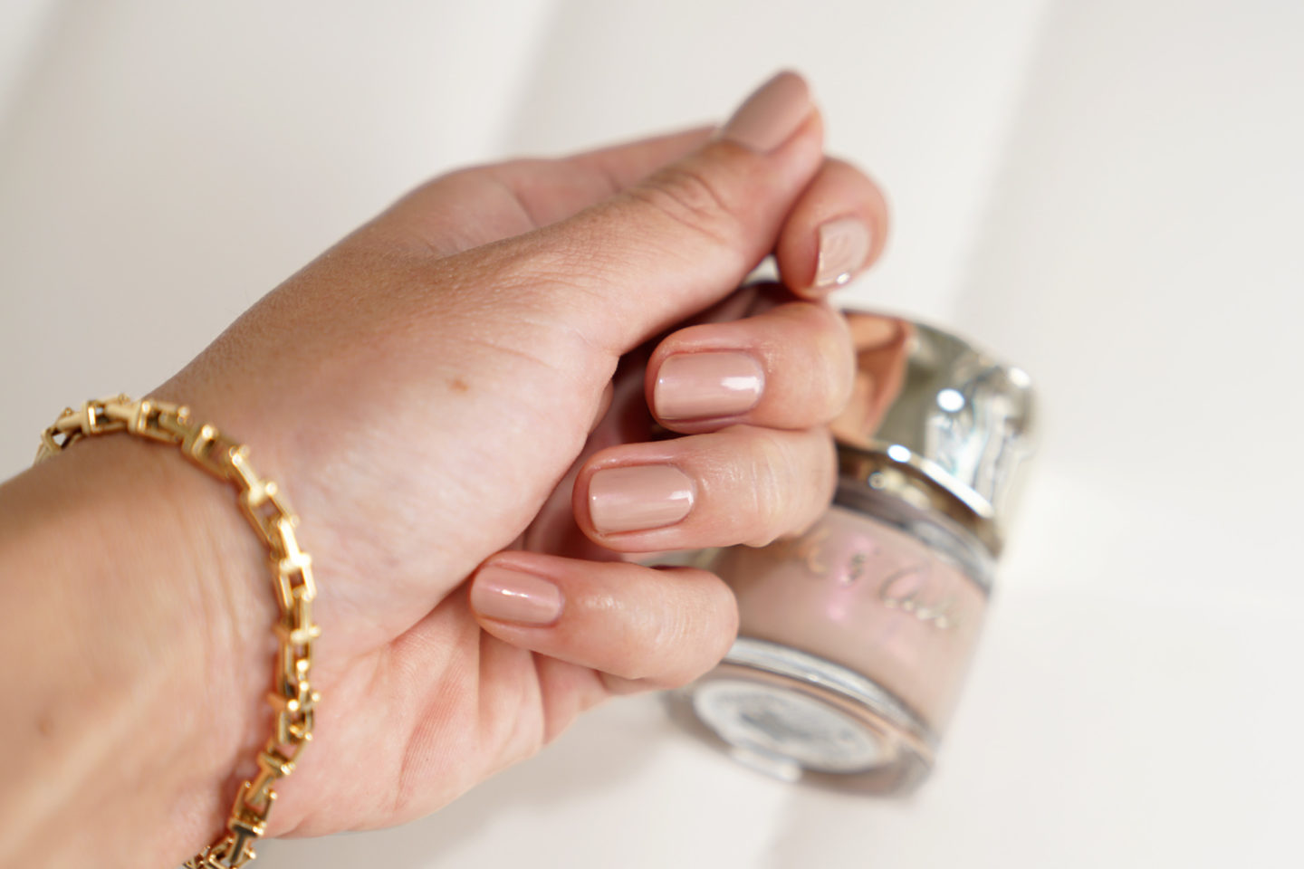 Smith and Cult Peaceful Paranoia swatch, neutral nail polish