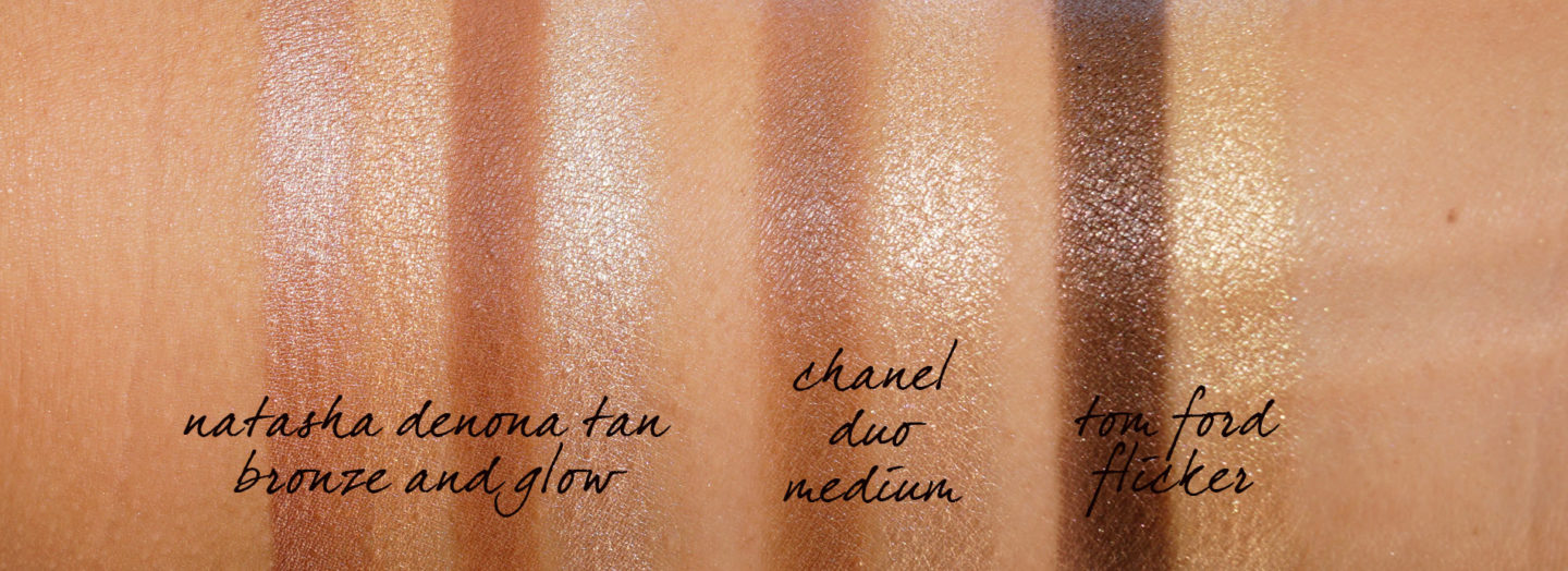 Natasha Denona Tan Bronze and Glow, Chanel Duo Bronze Et Lumiere Medium, Tom Ford SKin Illuminating Duo Flicker