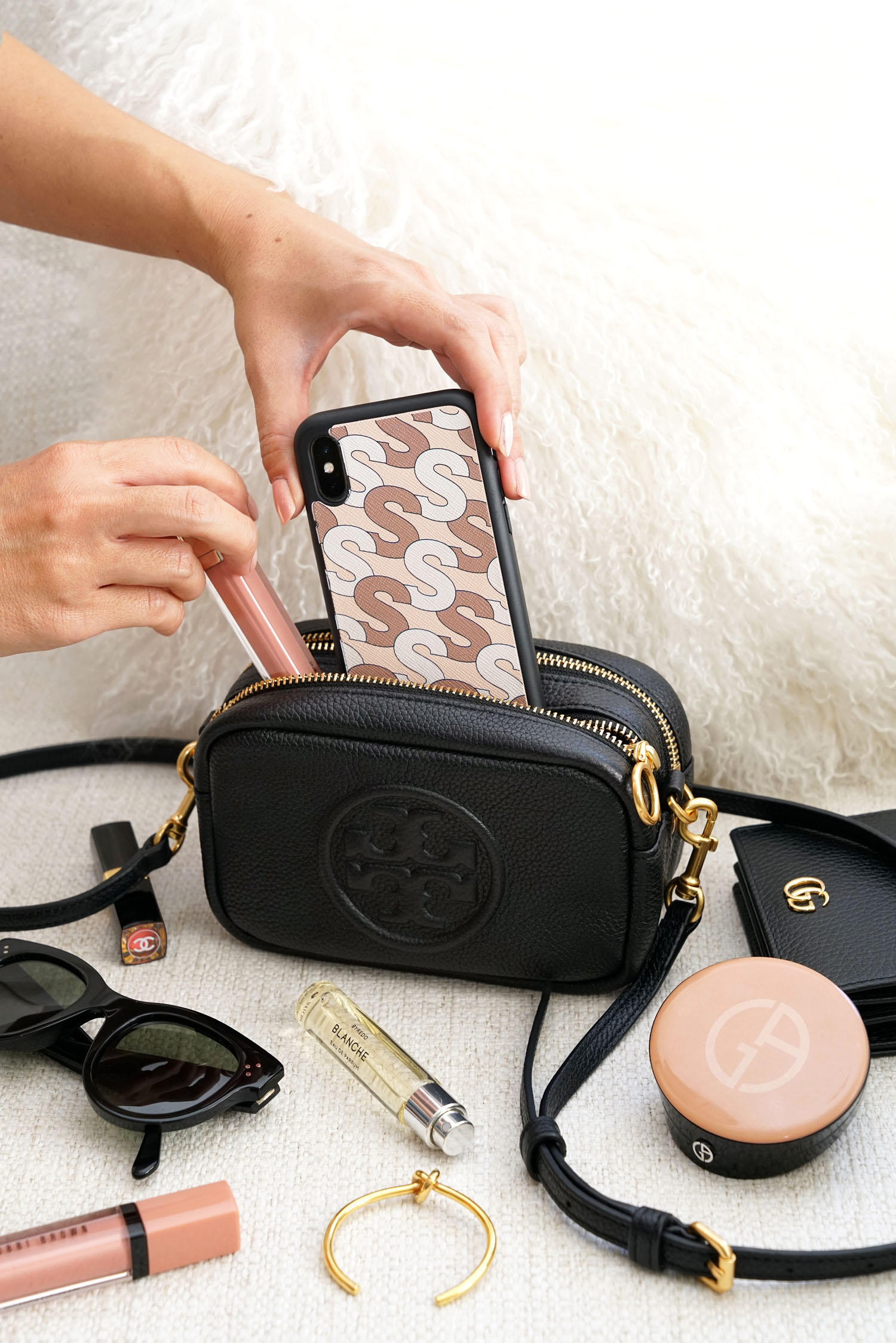586a144de97 What's in My Bag / Tory Burch Perry Bombe Mini | The Beauty Look Book