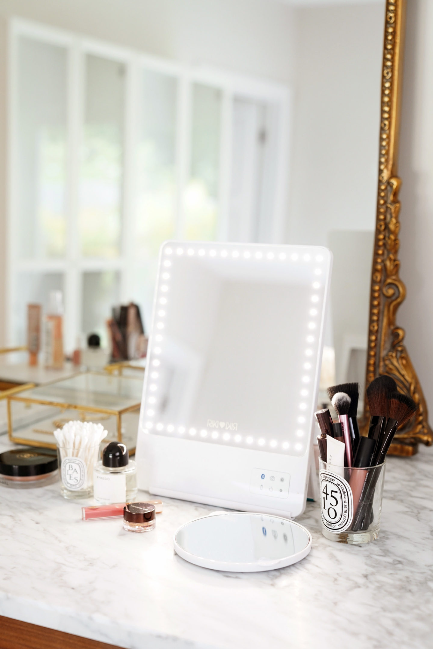 Riki Skinny Vanity Mirror review via The Beauty Look Book