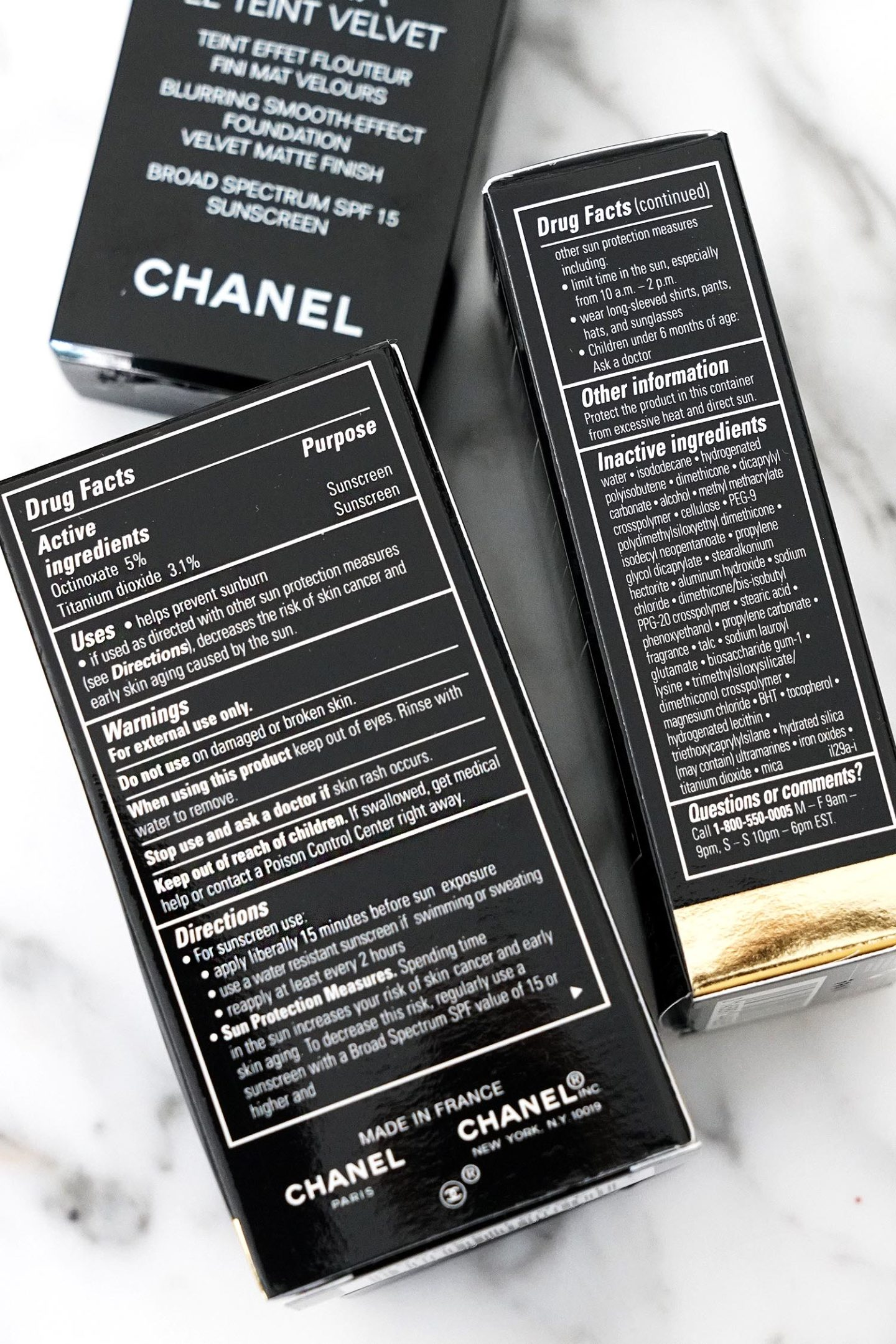 Chanel Ultra Le Teint Velvet ingredients US
