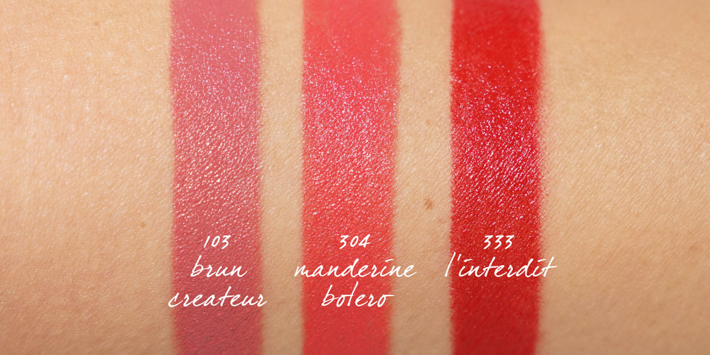 Givenchy Le Rouge Classic swatches