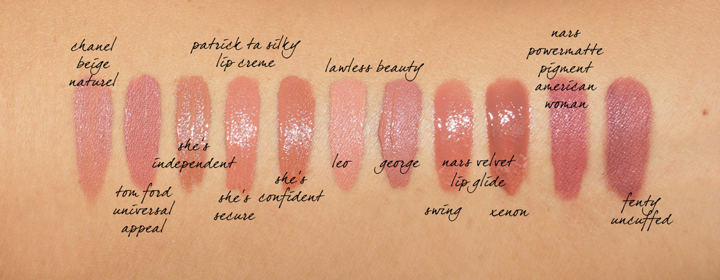 Nude Liquid Lip Swatches