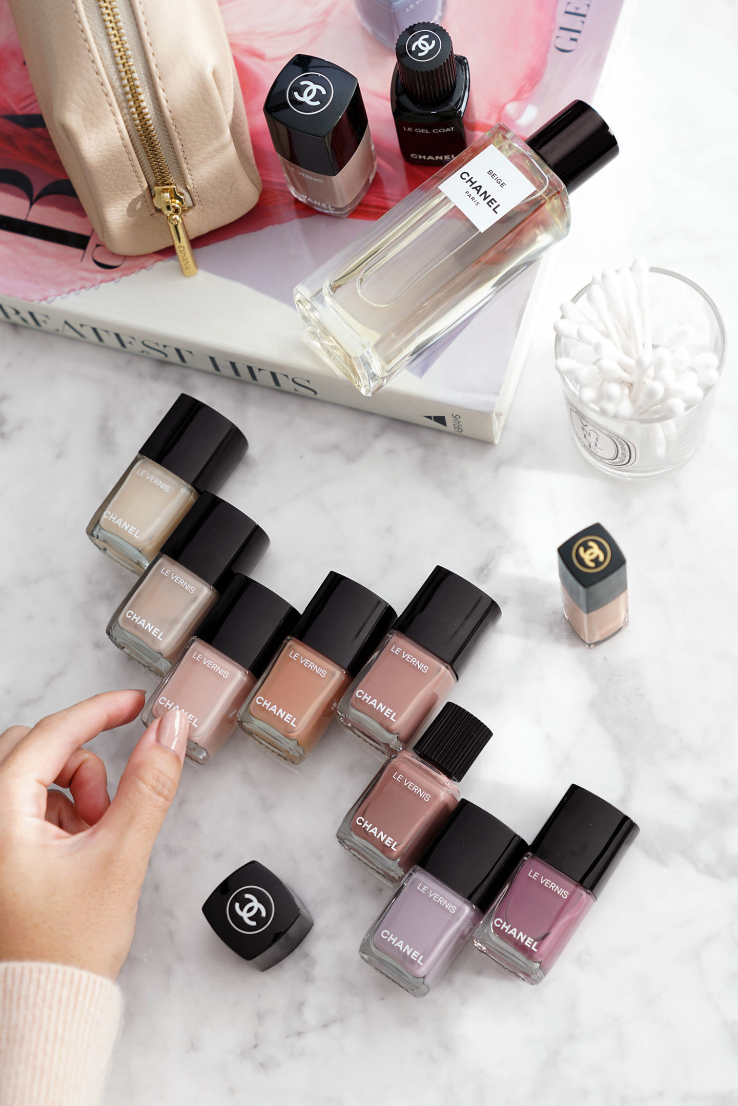 Best Chanel Nail Polish Neutrals via The Beauty Look Book