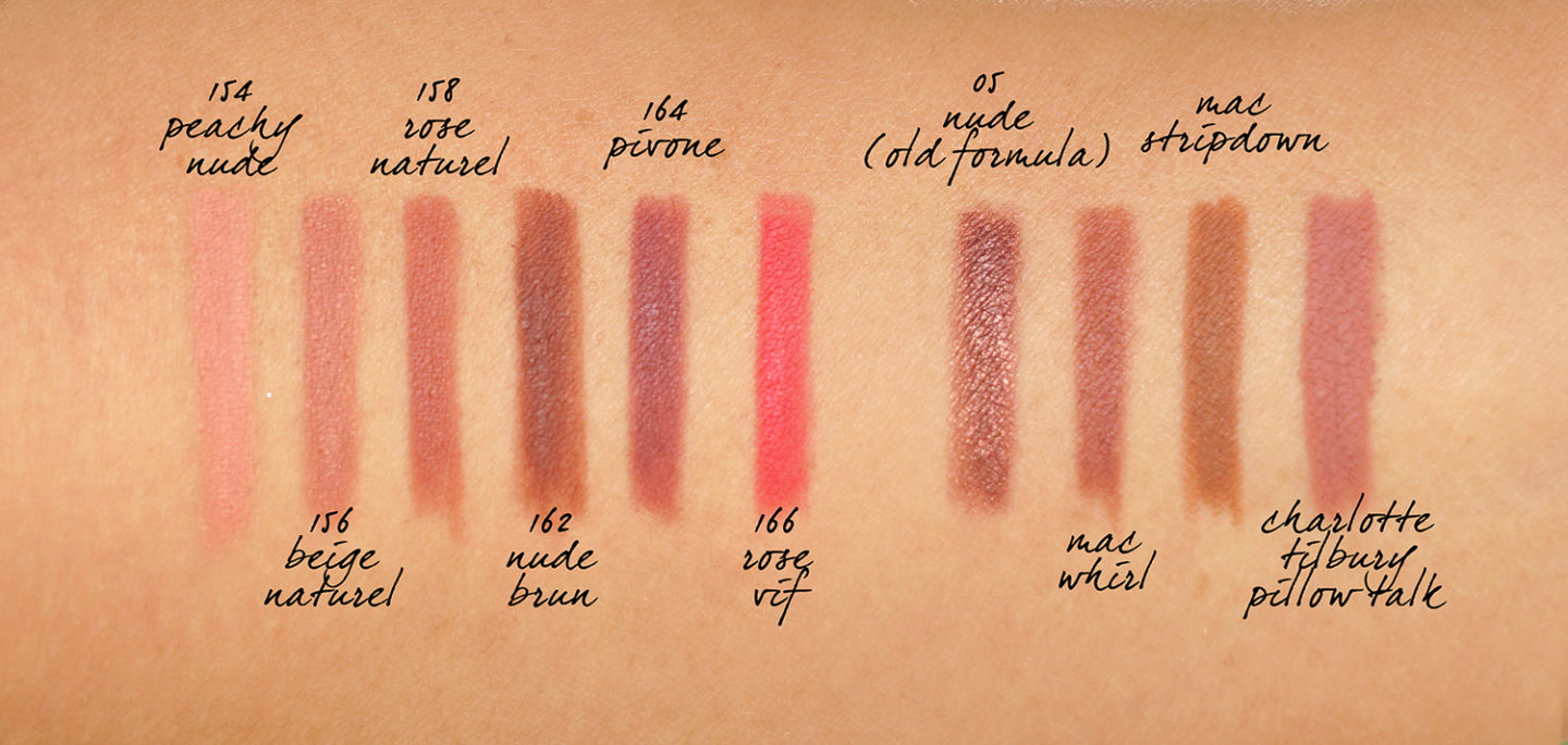 Chanel Le Crayon Levres New Formula and Colors swatches neutrals