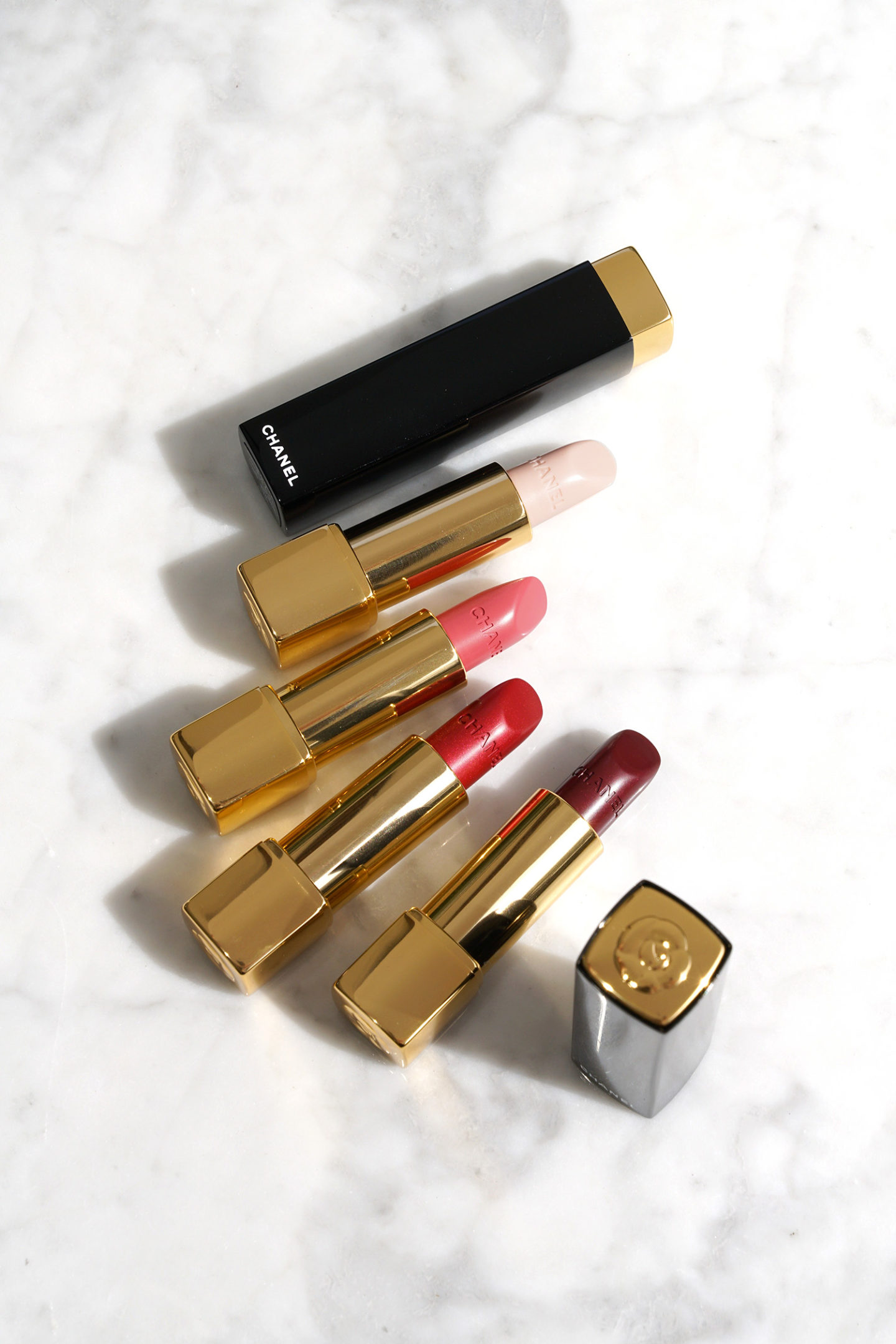 Chanel Rouge Allure Camelia Luminous Lipsticks
