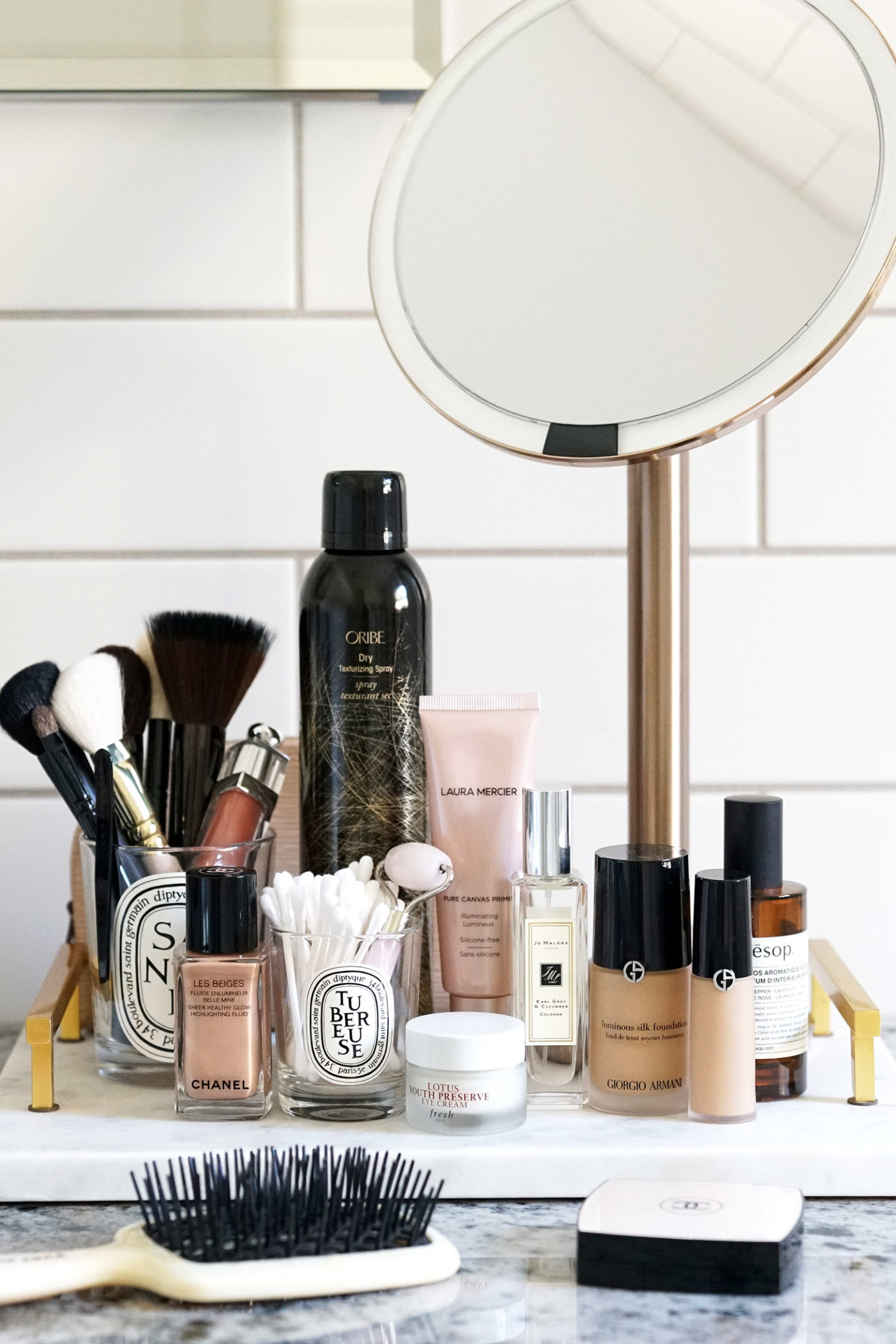 Beauty Look Book Vanity Bathroom
