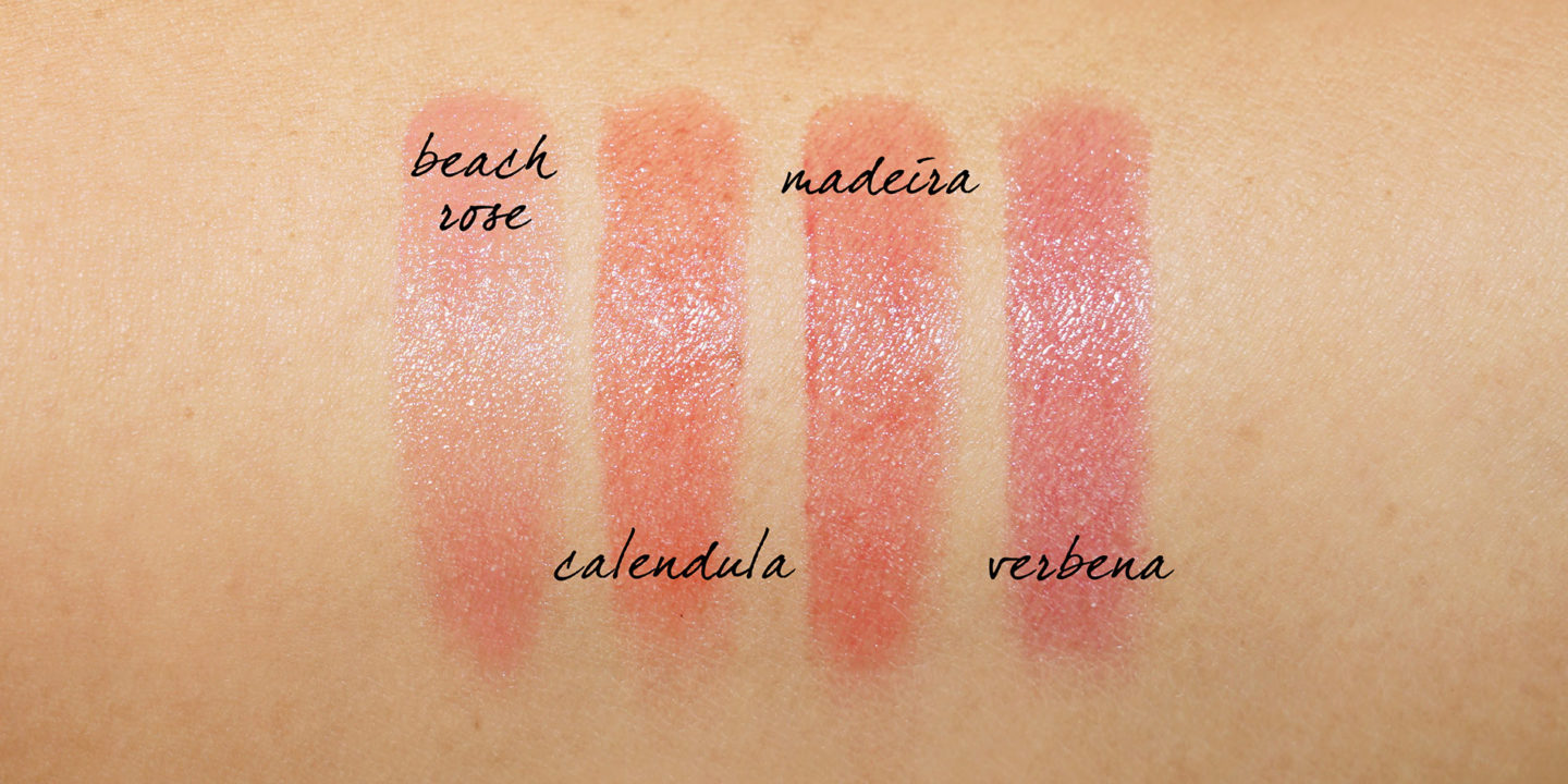 Chantecaille Lip Tint Hydrating Balm swatches