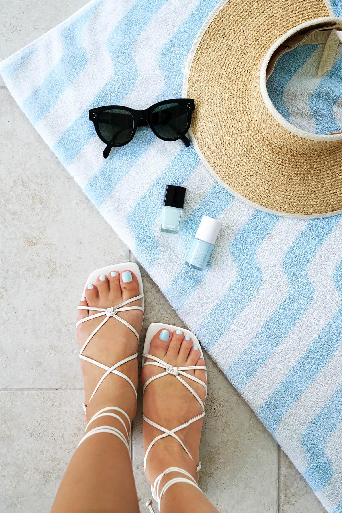 Marc Fisher Marina Lace-Up Sandal White