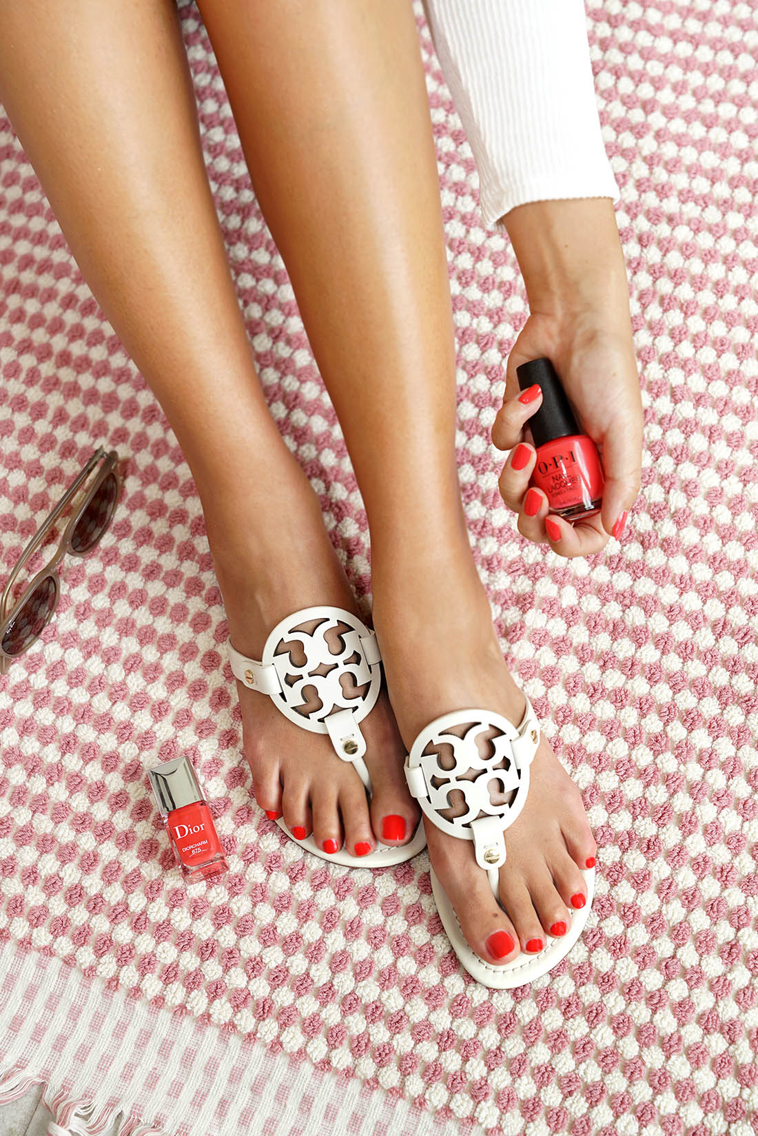 Tory Burch Miller Sandals in White